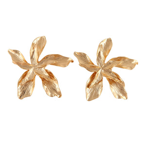 TYRA FLORAL GOLD | EARRINGS