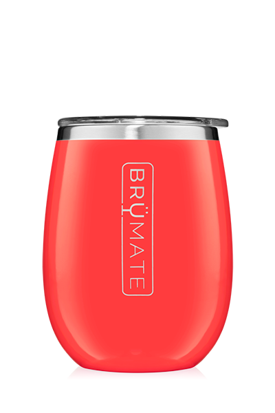 UNCORK'D WINE GLASS by BruMate | Coral