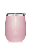 UNCORK'D WINE GLASS by BruMate | Glitter Blush