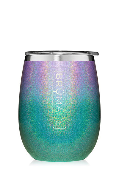 UNCORK'D WINE GLASS by BruMate | Glitter Mermaid Ombre