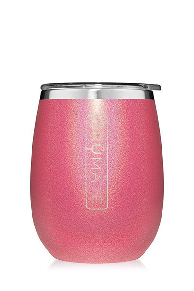 UNCORK'D WINE GLASS by BruMate | Glitter Pink