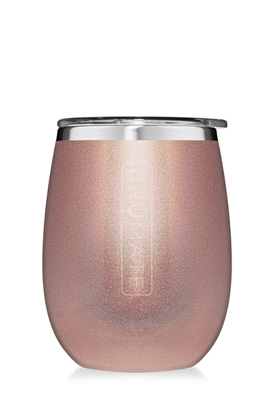 UNCORK'D WINE GLASS by BruMate | Glitter Rose Gold