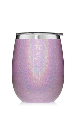 UNCORK'D WINE GLASS by BruMate | Glitter Violet