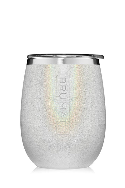 UNCORK'D WINE GLASS by BruMate | Glitter White
