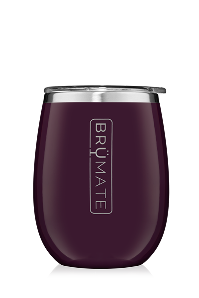 UNCORK'D WINE GLASS by BruMate | Plum