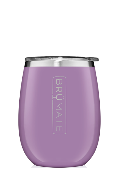 UNCORK'D WINE GLASS by BruMate | Violet