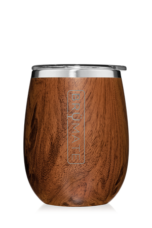 UNCORK'D WINE GLASS by BruMate | Walnut
