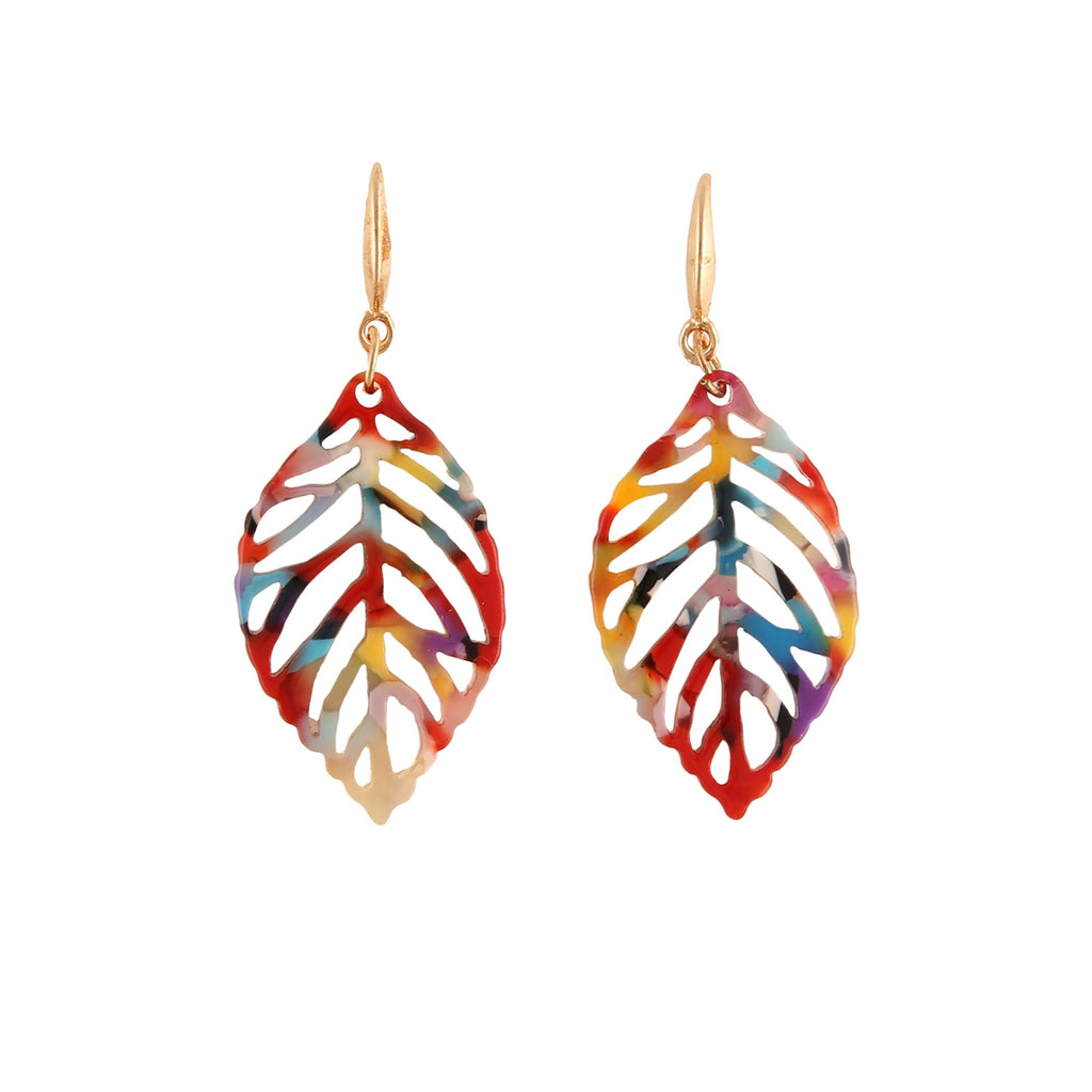 AUTUMN LEAF RAINBOW | EARRINGS