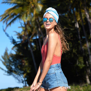 HAIR WRAP - QUICK DRY | TULUM BLUE