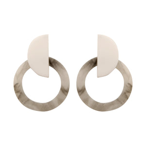 CRESCENT MARBLE  | EARRINGS