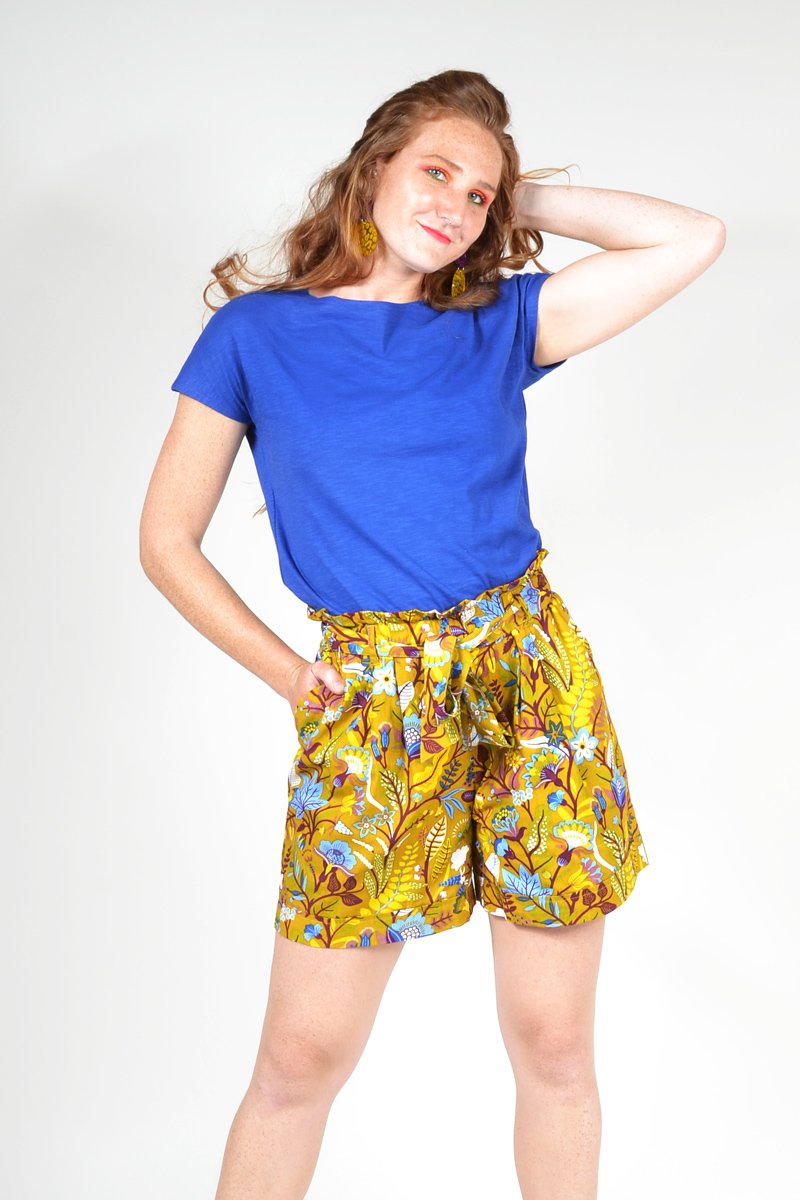 CLEO BAMBOO COTTON 'DAZZLING BLUE' | TEE SHIRT