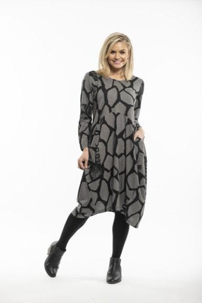 BUBBLE BLACK/GREY | DRESS