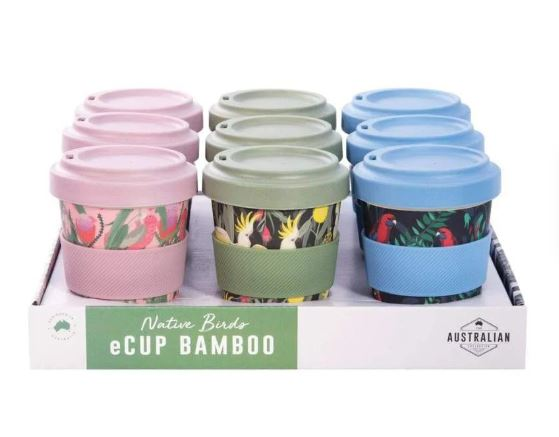 BAMBOO TAKEAWAY CUP | 3 Native Bird Varieties