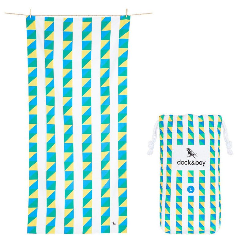 XL SAND FREE, QUICK DRY BEACH TOWEL | FESTIVAL