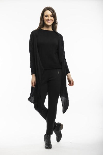 COTTON KNIT BLACK | WRAP