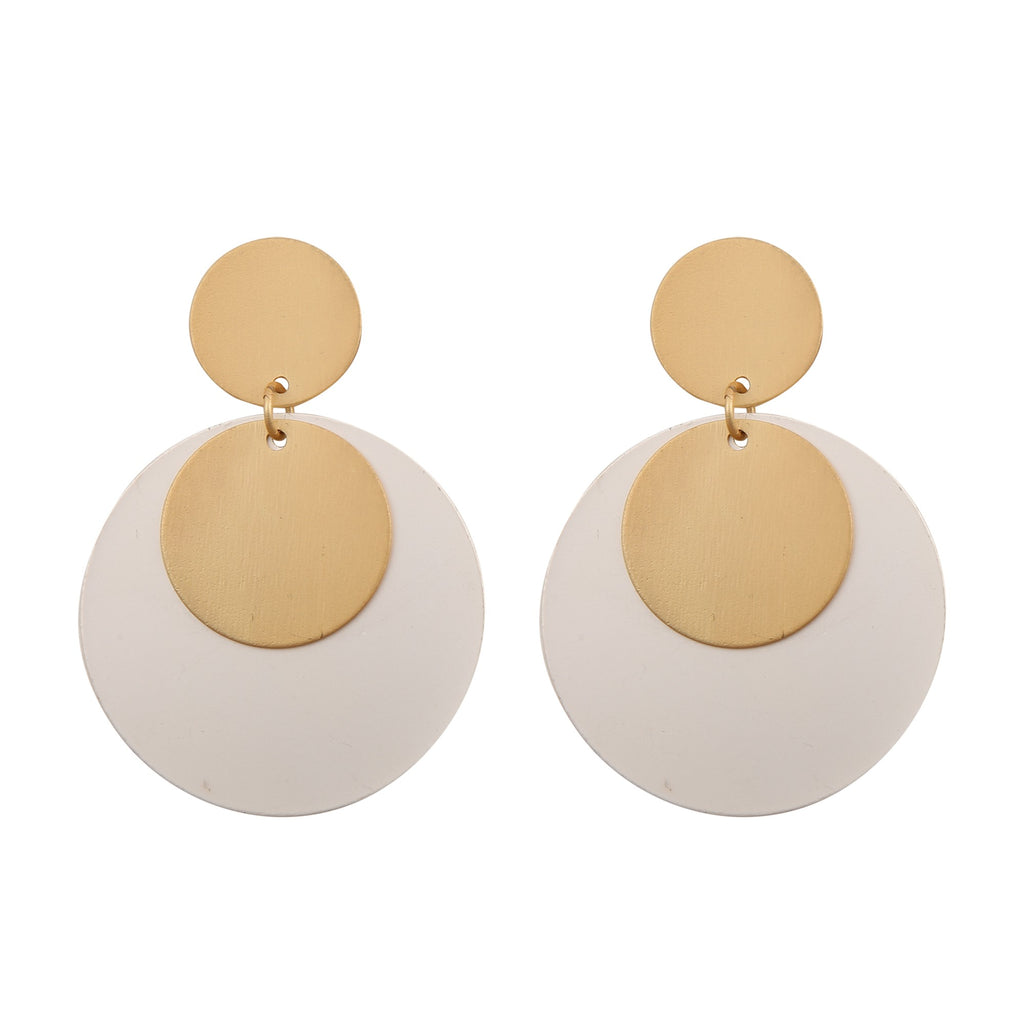 DUAL TONE DROP | EARRINGS