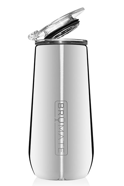 CHAMPAGNE FLUTE by BruMate | POLISHED SILVER