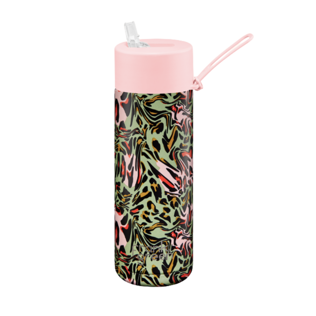 CERAMIC REUSABLE Bottle 20oz | Blushing Rainforest
