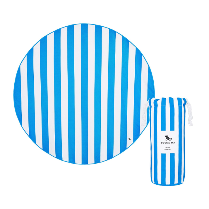 XL SAND FREE, QUICK DRY ROUND BEACH TOWEL | BONDI BLUE