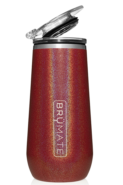 CHAMPAGNE FLUTE by BruMate | Glitter Ruby