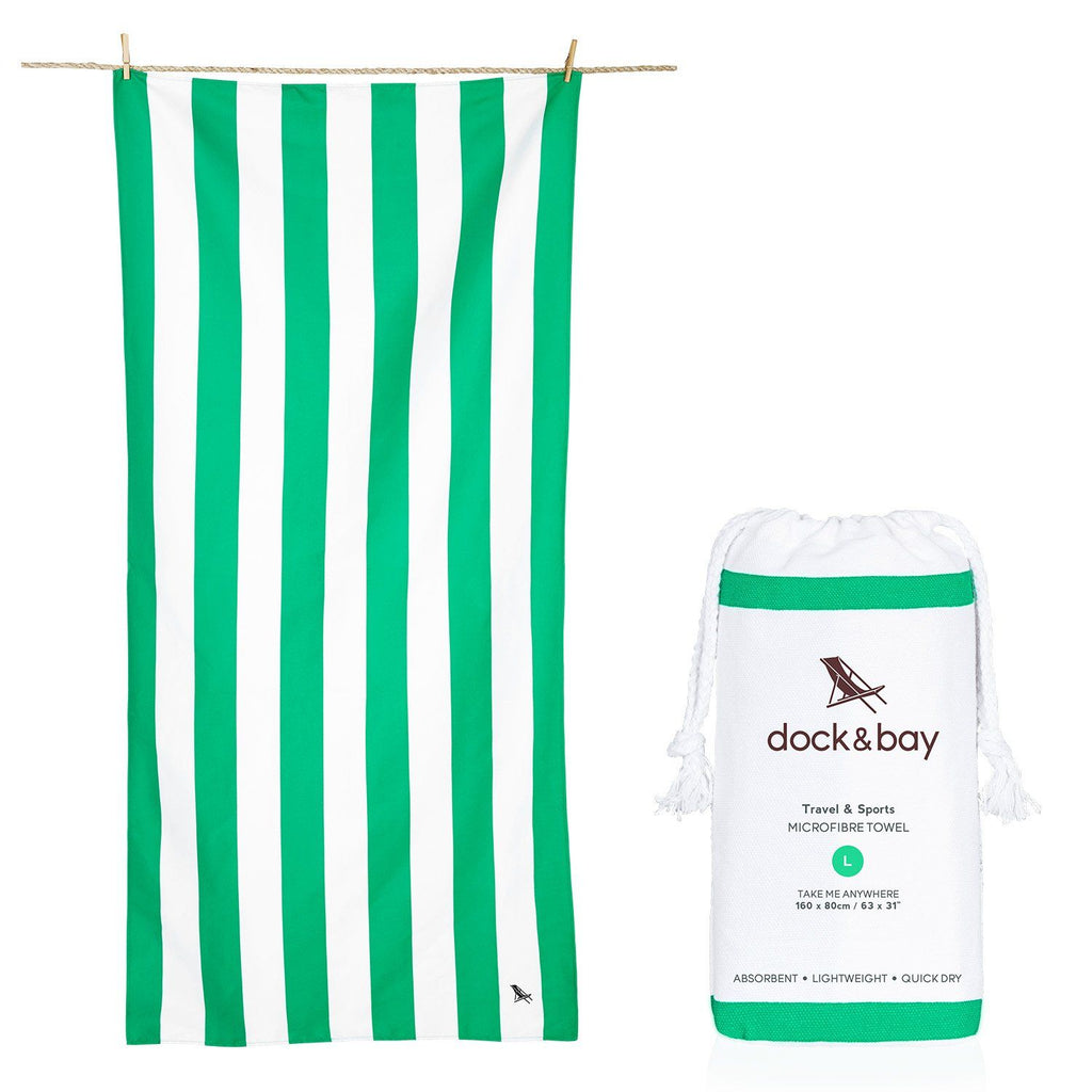 SAND FREE, QUICK DRY BEACH TOWEL | CANCUN GREEN