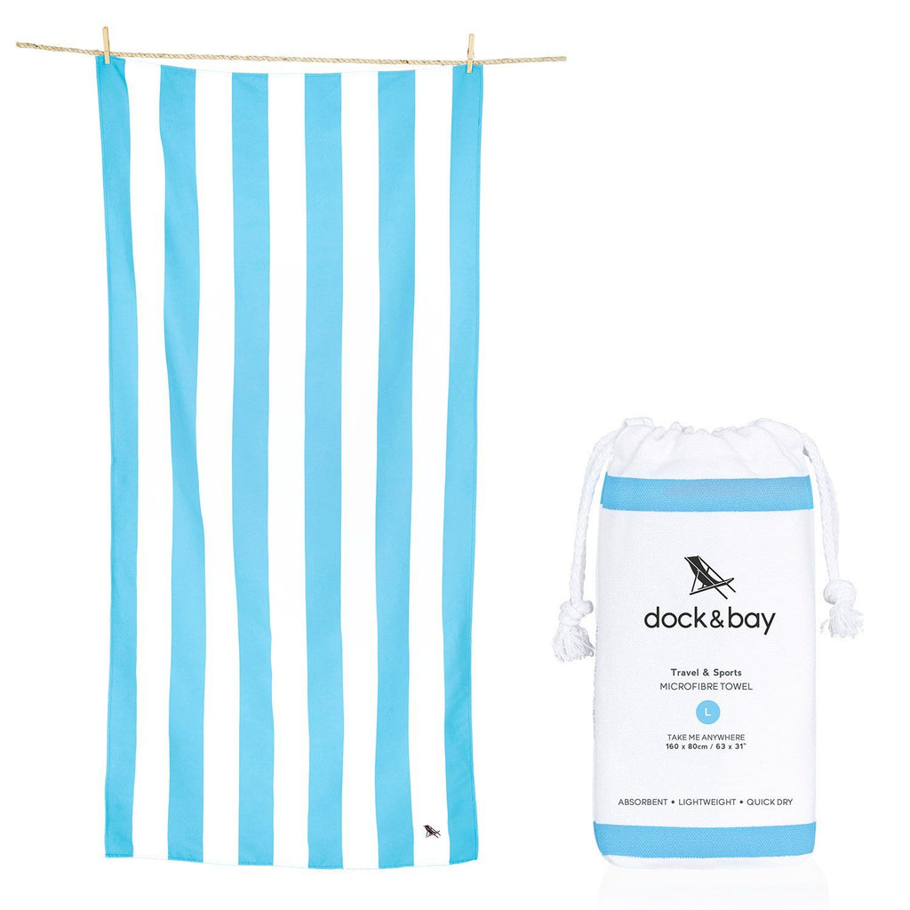 XL SAND FREE, QUICK DRY BEACH TOWEL | TULUM BLUE