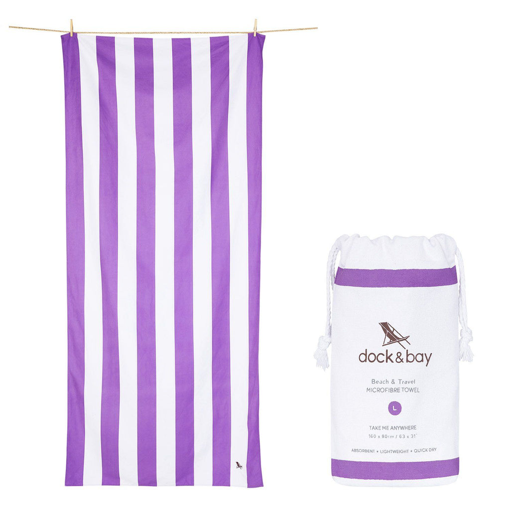 XL SAND FREE, QUICK DRY BEACH TOWEL | BRIGHTON PURPLE