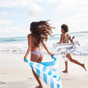 SAND FREE, QUICK DRY BEACH TOWEL | TULUM BLUE