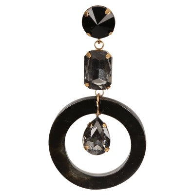 VOGUE BLACK DROP | EARRINGS