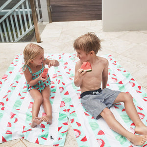 XL SAND FREE, QUICK DRY BEACH TOWEL | WATERMELON