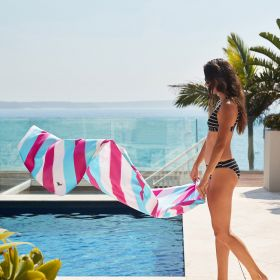 SAND FREE, QUICK DRY BEACH TOWEL | ARCTIC CRUSH
