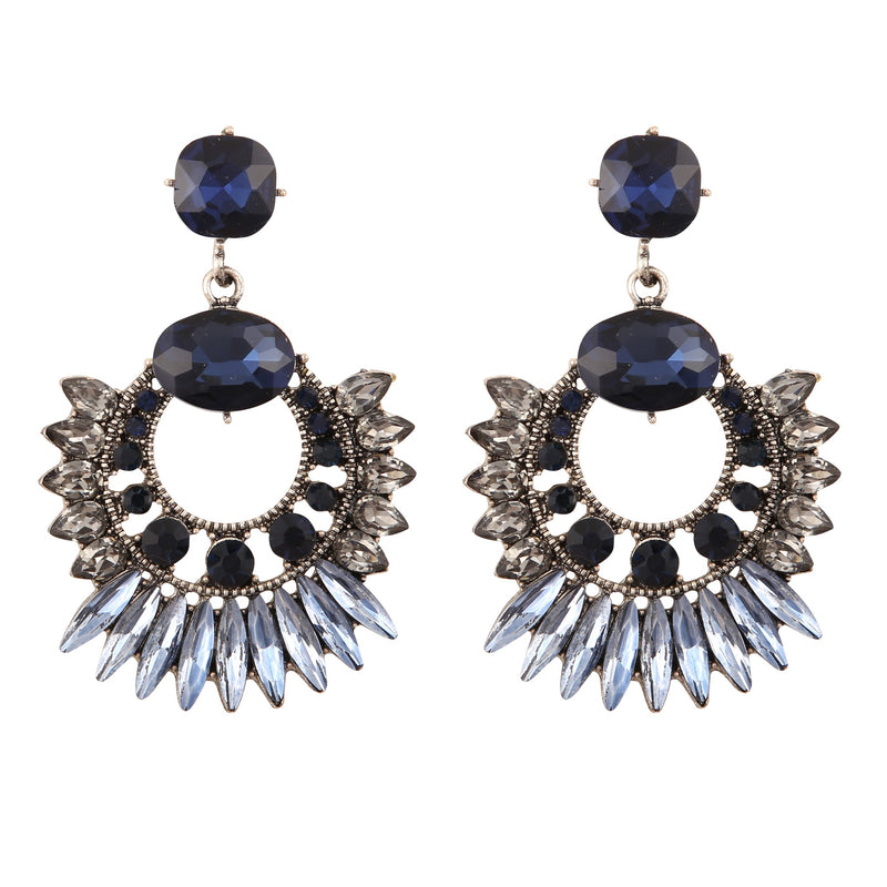 ZAZA CRYSTAL GLASS BLUE | EARRINGS