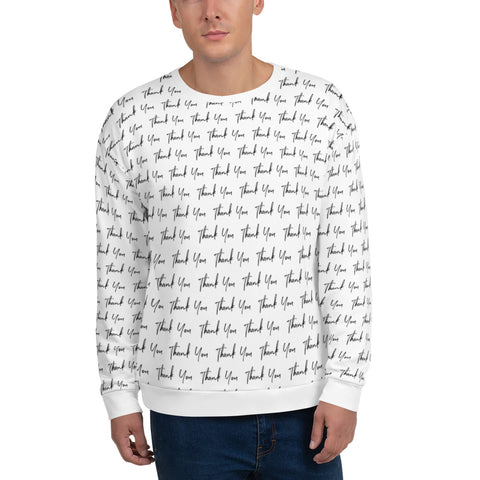 Thank You All Over Print Unisex Sweatshirt