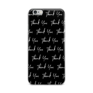 Thank You Black iPhone Case