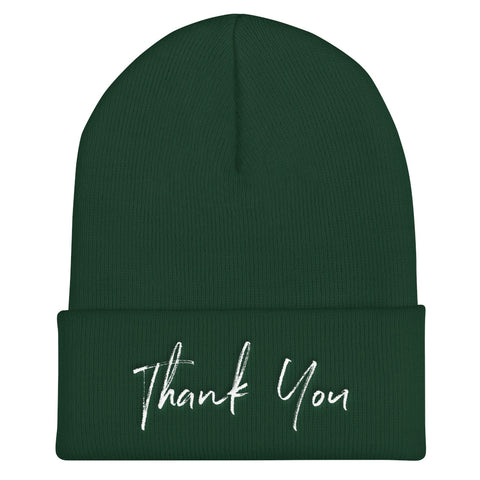 Thank You Cuffed Beanie