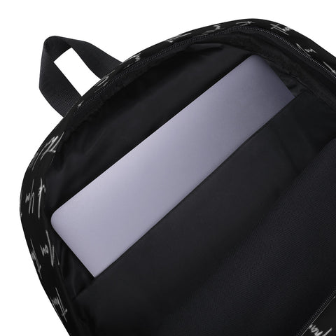 Thank You All Over Print Black Backpack