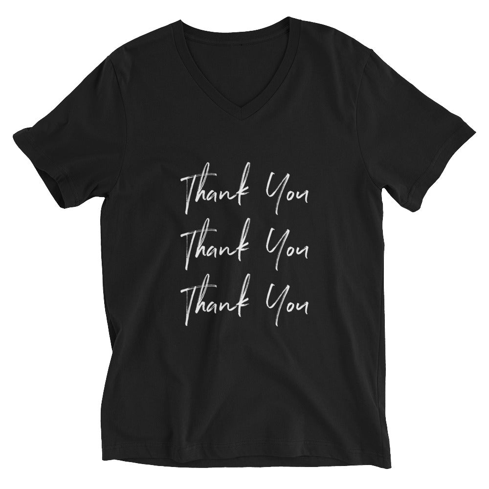 Thank You Unisex V-Neck T-Shirt