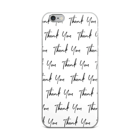 Thank You White iPhone Case