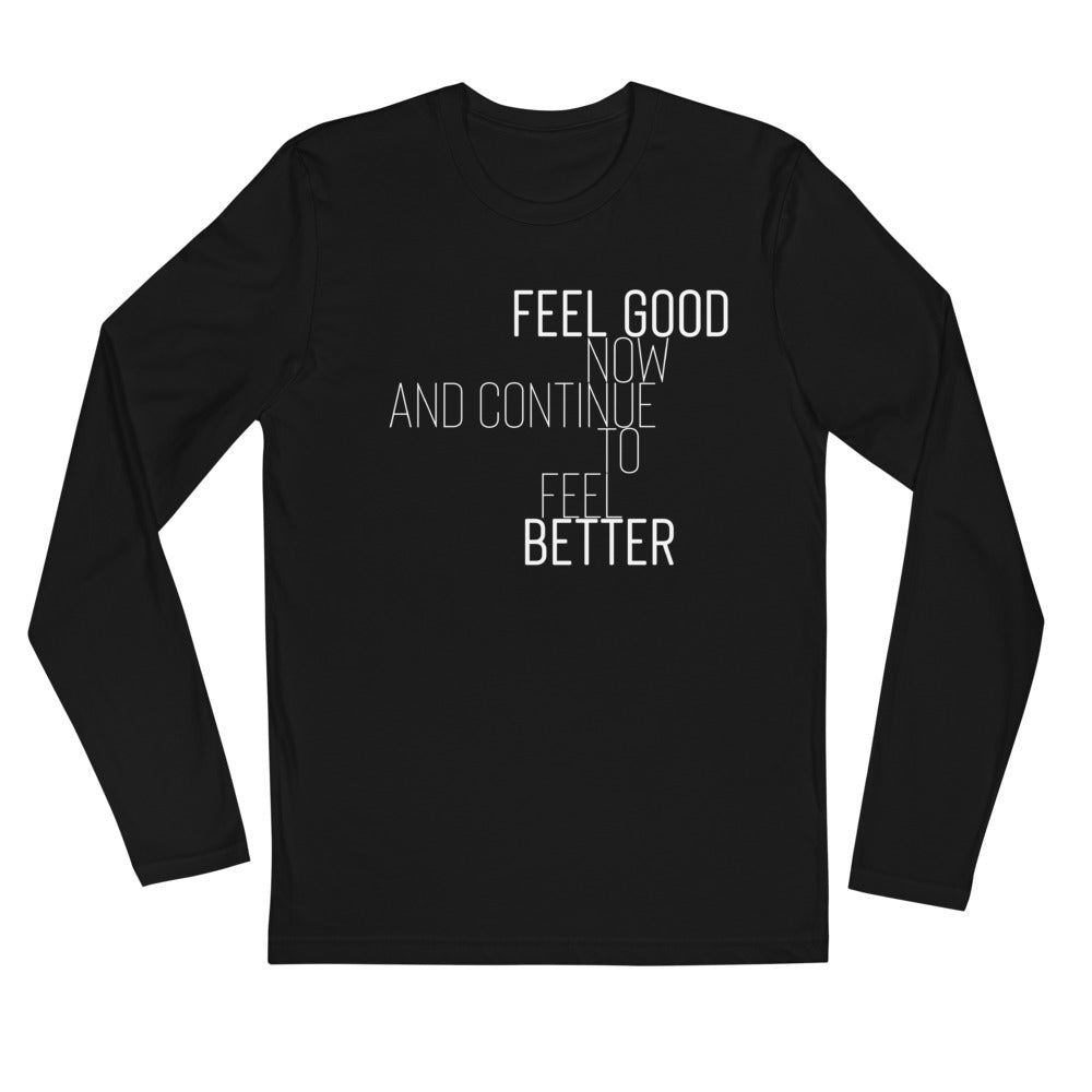 Feel Good Now Long Sleeve Black Shirt