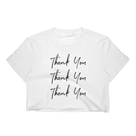 Thank You Women's Crop Top