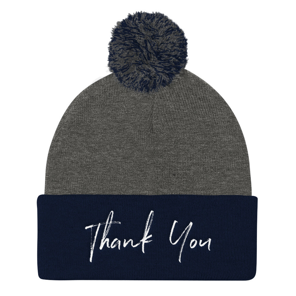 Thank You Pom Pom Knit Cap