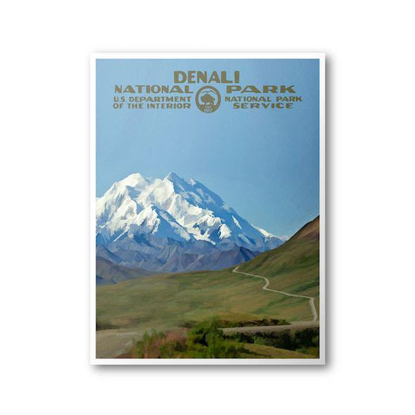 Denali National Park Poster (Denali Park Road) - Albion Mercantile Co.