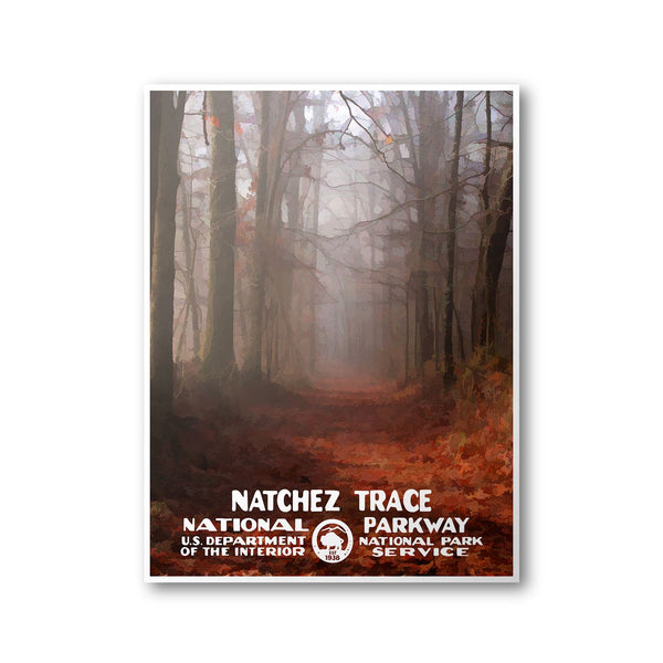 Natchez Trace National Parkway Poster - Albion Mercantile Co.