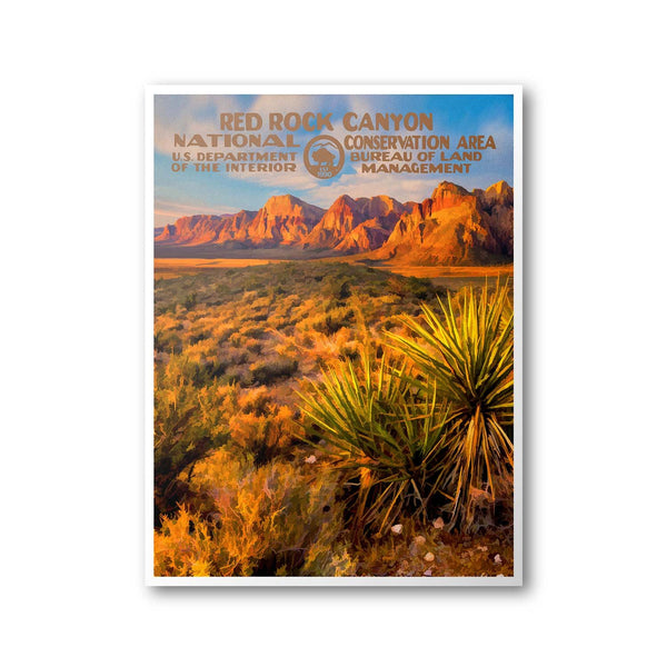 Red Rock Canyon National Conservation Area Poster - Albion Mercantile Co.