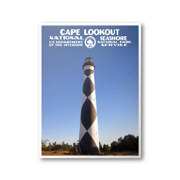Cape Lookout National Seashore Poster - Albion Mercantile Co.