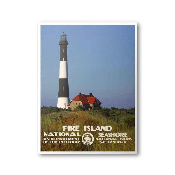Fire Island National Seashore Poster - Albion Mercantile Co.