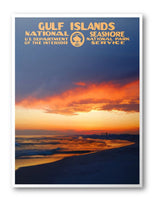 Gulf Islands National Seashore Poster - Albion Mercantile Co.