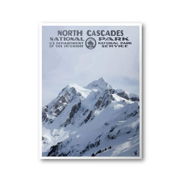 North Cascades National Park Poster (Mount Shuksan) - Albion Mercantile Co.