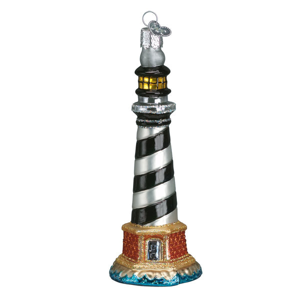 Cape Hatteras Lighthouse Glass Blown Ornament (Cape Hatteras National Seashore) - Albion Mercantile Co.