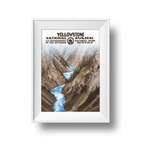 Yellowstone National Park Poster (Canyon) - Albion Mercantile Co.